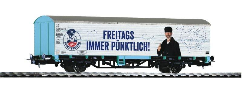 Ged. Güterwagen Starke Marken Iglo DB AG, H0, DC Idee +Spiel