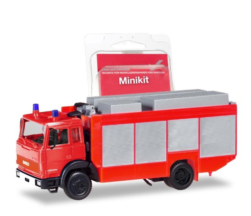 MiniKit: Iveco Magirus Rüstwagen, rot, 1:87 / H0