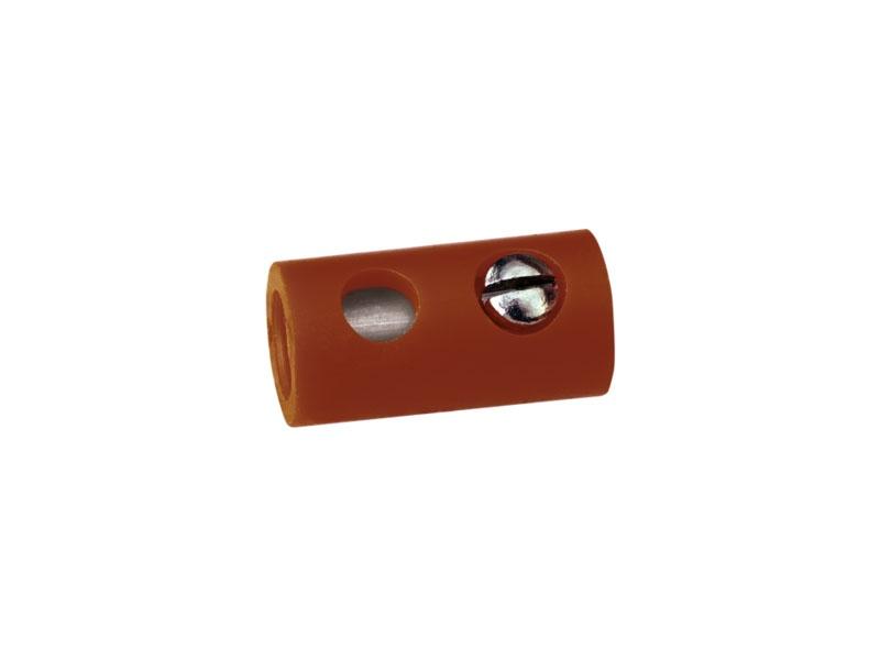 Muffen rund, braun, 2,5 mm [10 Stück]