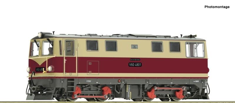 Diesellokomotive V 60 K der DR, DC, Spur H0e