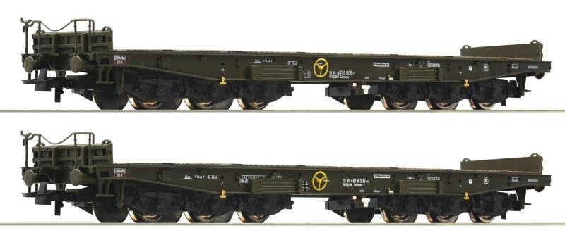 2-tlg. Set Schwerlastwagen der BW, DC, Spur H0