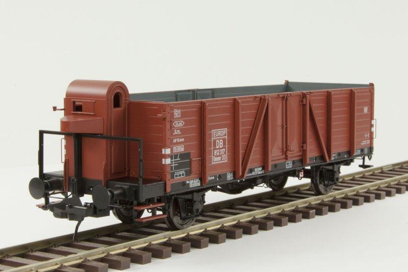 Hochbordwagen Omm33 der DB, mit Bremserhaus, Spur 0