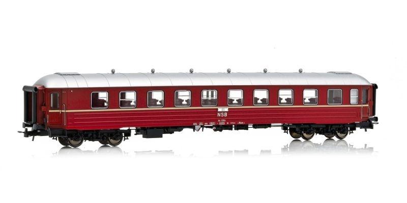 Topline Personenwagen B4 25954 der NSB, Rotbraun, Spur H0