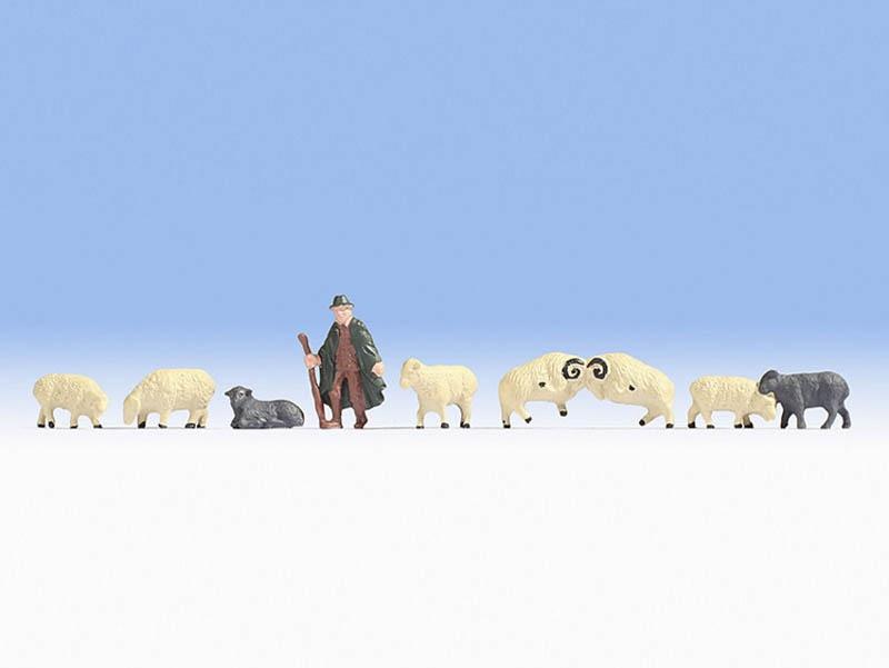 Schäfer und Schafe Figuren Spur H0