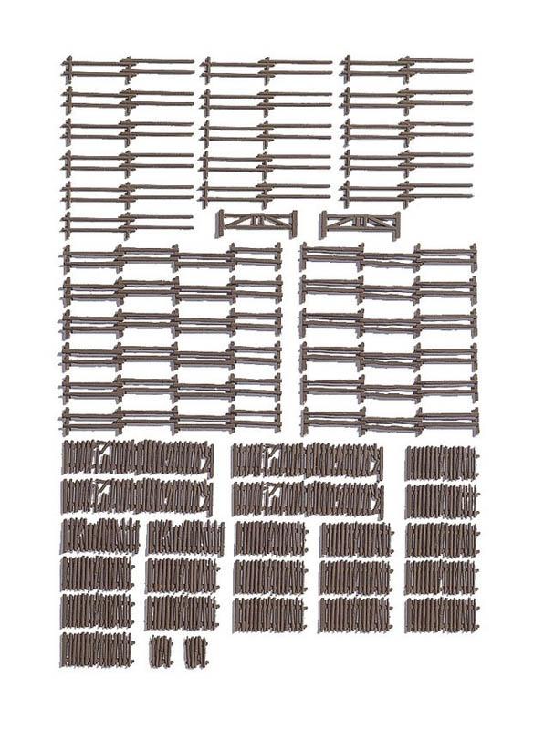 Ländliche Zäune, ca. 290 cm, 53 Teile Spur H0
