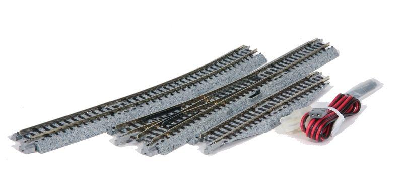 Elektrische Weiche rechts, R 481 mm, 15° Spur N