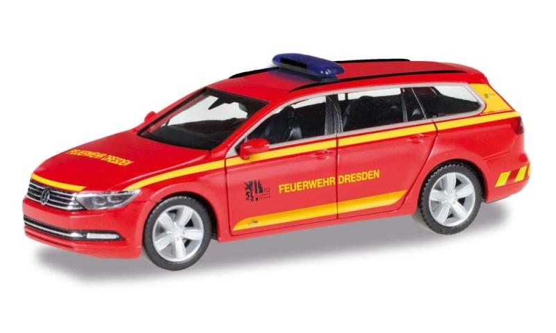 VW Passat Variant Feuerwehr Dresden, 1:87 / Spur H0