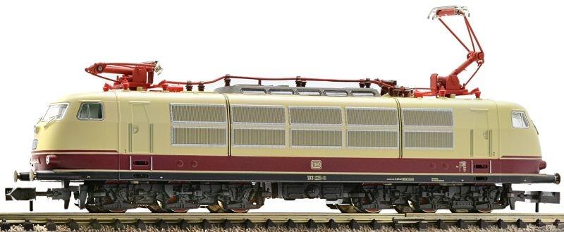 Elektrolokomotive BR 103 Rot-beige der DB, DC, Spur N