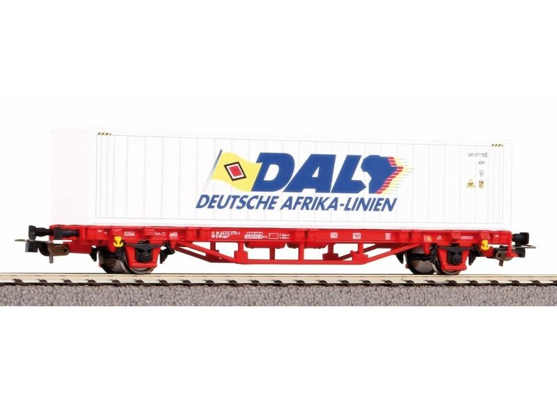 Containertragwagen DAL, DB AG, VI, mit 40 ft Container, H0