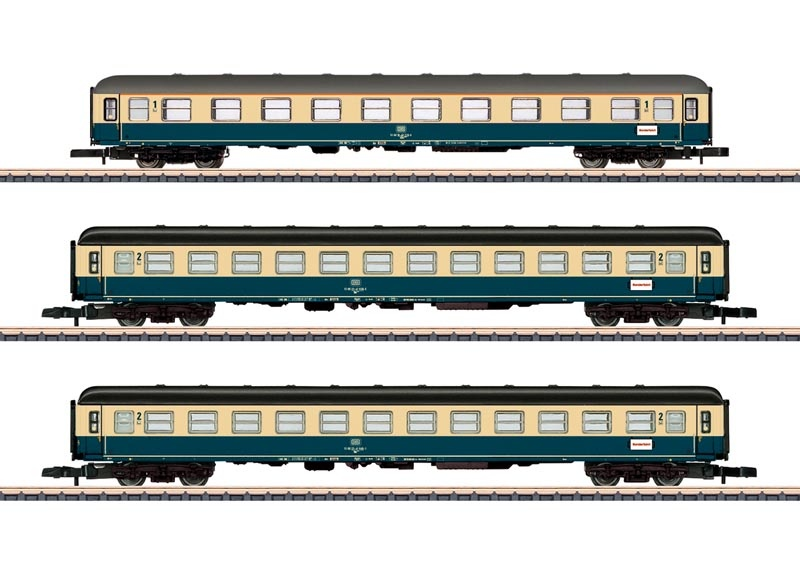 Schnellzugwagen-Set Abteilwagen der DB, Spur Z