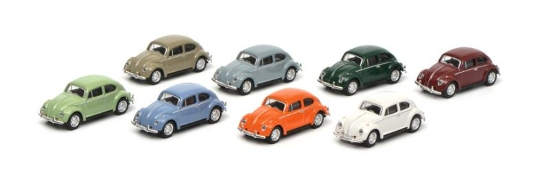 VW Käfer Set 8 Autos  1:87 / Spur H0