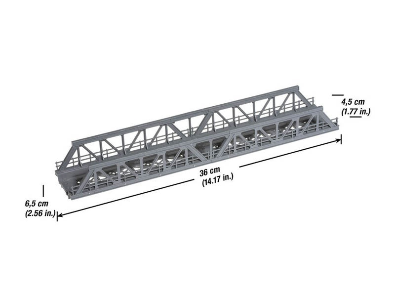 Gitter-Brücke 360 mm Spur H0