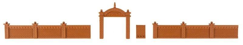 Fabrikmauer Bausatz, Spur N
