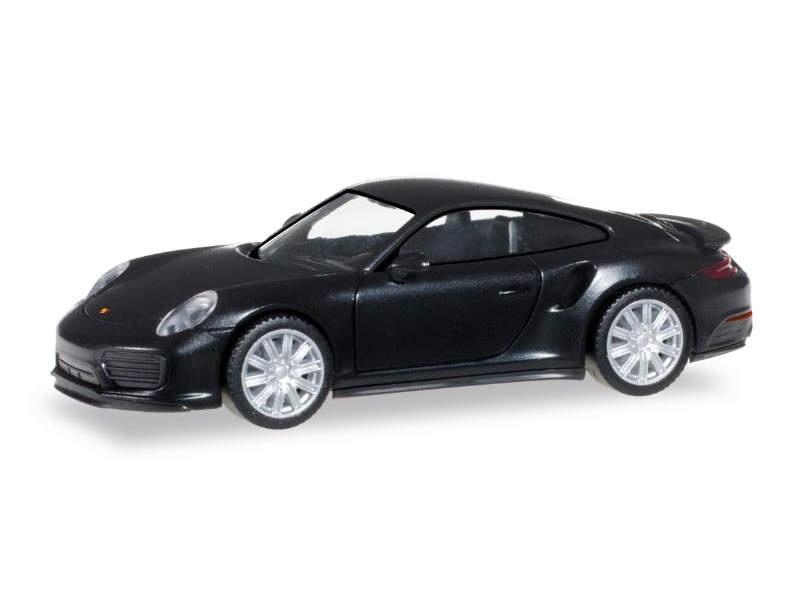 Porsche 911 Turbo, schwarz, 1:87 / H0