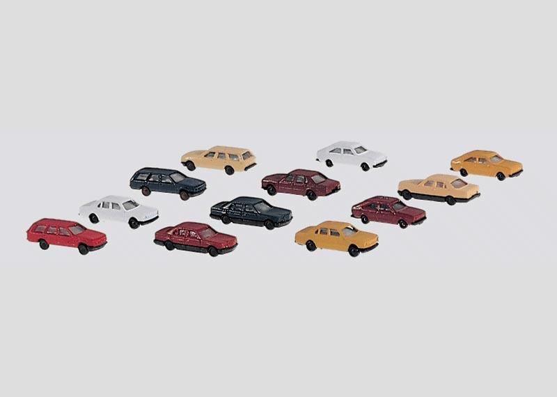 Bausatz PKW-Set mit 12 Fahrzeugen Spur Z
