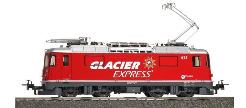 RhB Ge 4/4 II 623 Lok Glacier-Express, Sound, AC, Spur H0