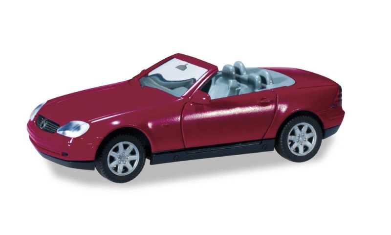 Minikit Mercedes-Benz SLK, Bordeauxviolett, 1:87 / Spur H0