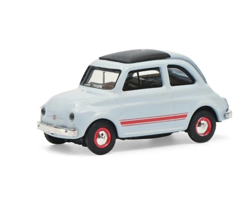 Fiat 500 Sport blau/grau 1:87 / Spur H0