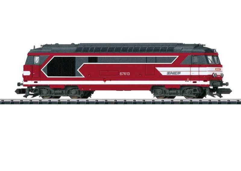 Diesellokomotive Serie BB 67400 der SNCF, Minitrix Spur N