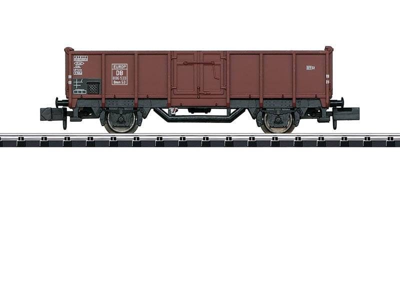 Hochbordwagen Omm 53 der DB, Minitrix Spur N
