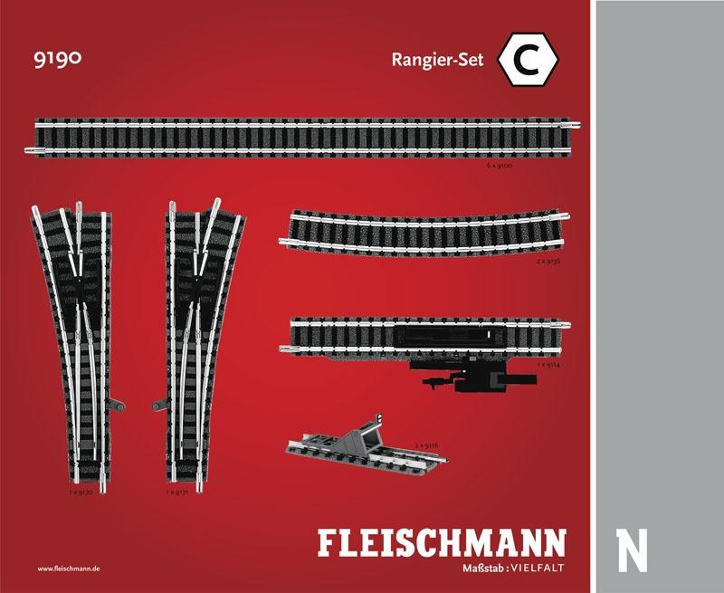 Rangier-Set C Gleiserweiterung N-Gleis mit Bettung