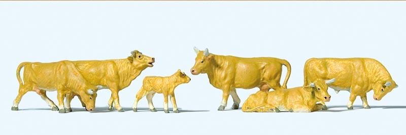 Kühe, hellbraun 1:87 / H0