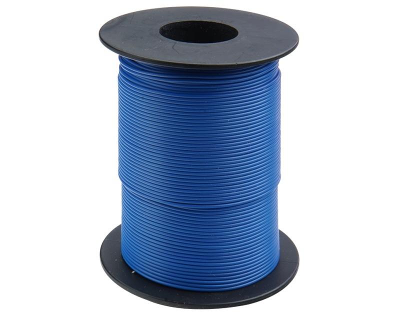 Kupferschalt Litze 0,14 mm² / 100m blau