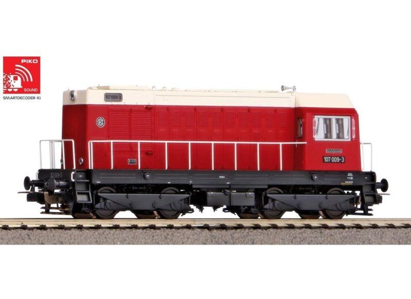 Sound-Diesellok BR 107 der DR, Ep. IV, DC, Spur H0