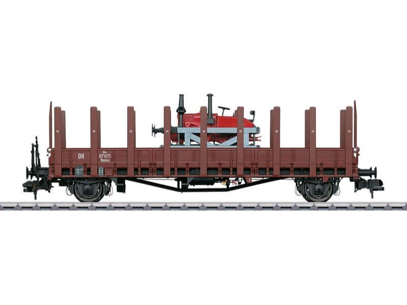 Rungenwagen Rmm Ulm DRG mit Ladegut Spur 1