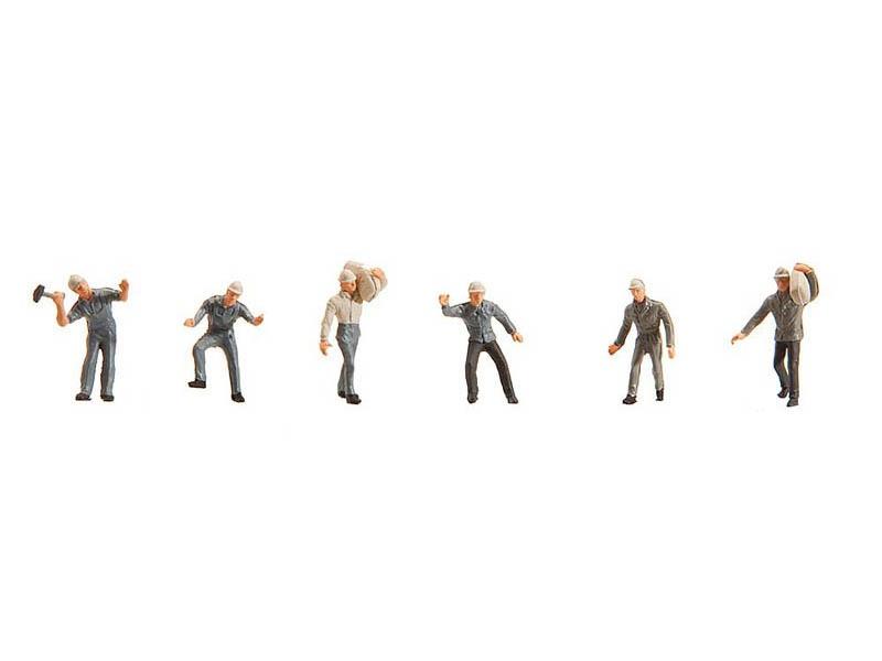 Bergarbeiter 6 Figuren H0