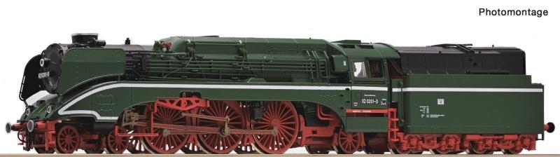 Dampflokomotive 02 0201-0 der DR, Spur TT
