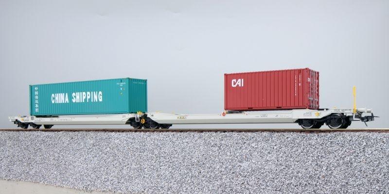 Taschenwagen Sdggmrs NL-RN + Container CCLU/CAIU, DC, H0
