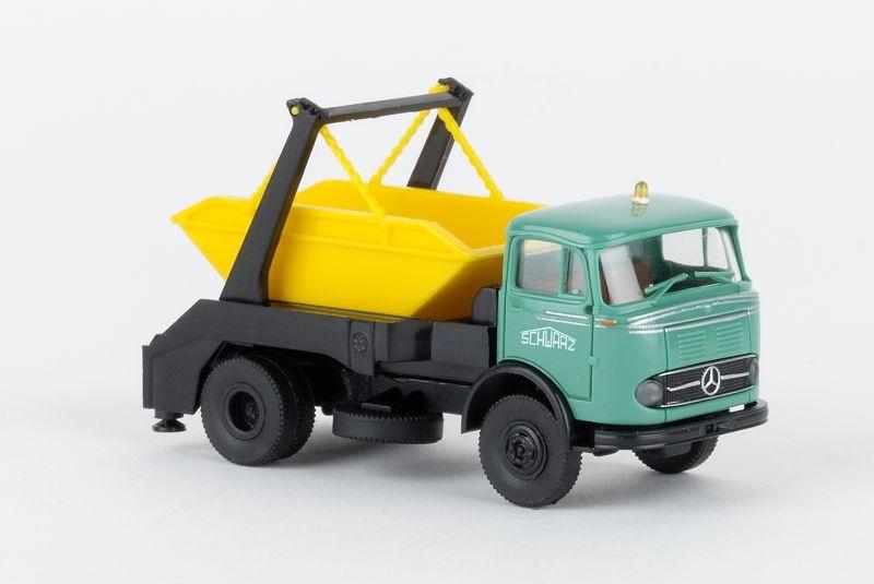 Mercedes LP 328 Absetzkipper 1960,  Schwarzbau, 1:87 / H0