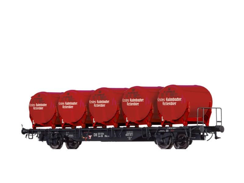 Behälterwagen Lbs-58 der DB, mit Ddikr 612, III, H0
