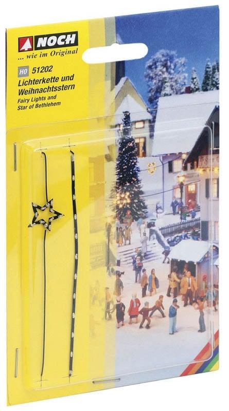 Lichterkette und Weihnachtsstern Spur H0