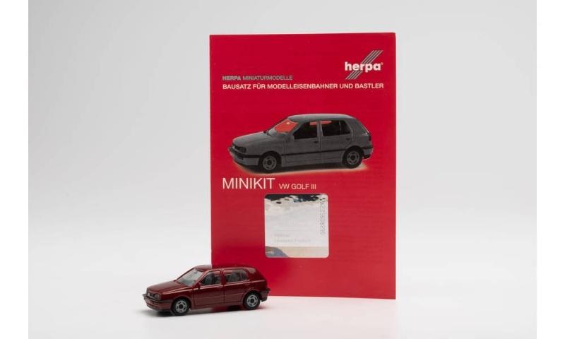 Minikit VW Golf III, weinrot, 1:87 / Spur H0
