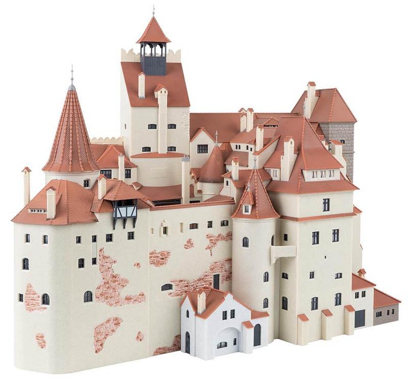 Schloss Bran Bausatz, Limitiert, Spur H0