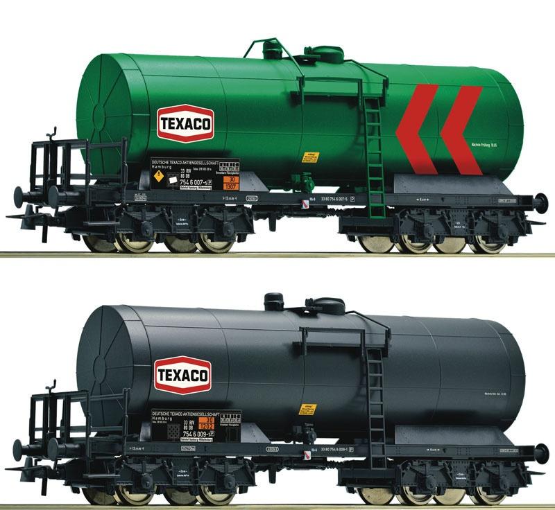 2er Set Kesselwagen der DB, Texaco, DC, Spur H0
