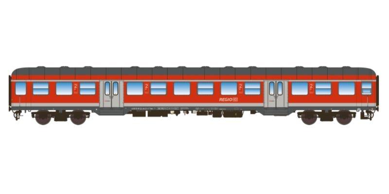 n-Wagen, Bnrz 446, 2. Kl, DB Ep. V/VI, verkehrsrot, DC, H0