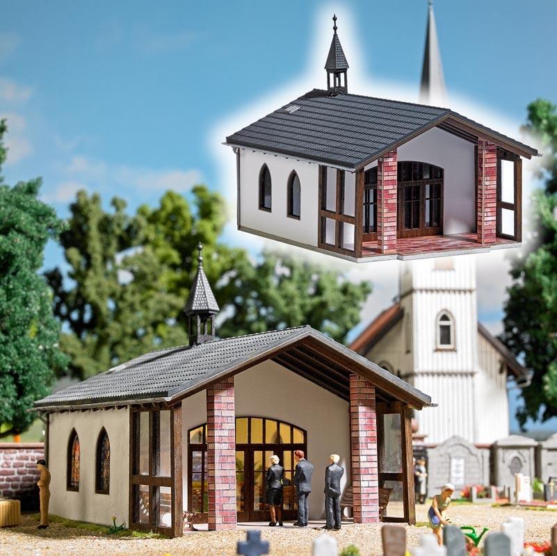 Friedhofskapelle/Trauerhalle Bausatz, Spur H0