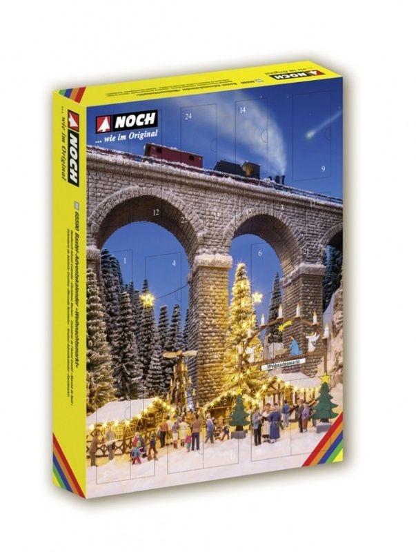 Bastel-Adventskalender Weihnachtsmarkt Spur H0