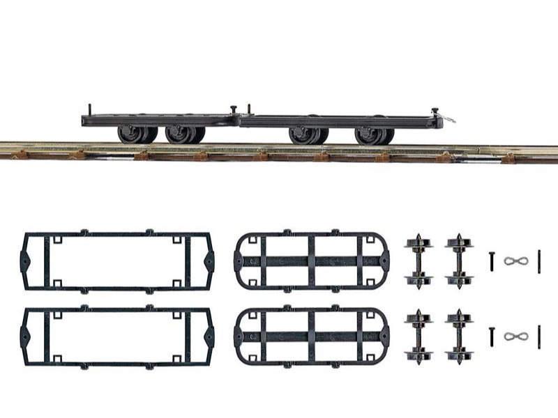 Zwei Fahrwerke zum Umbauen, Spur H0f Feldbahn