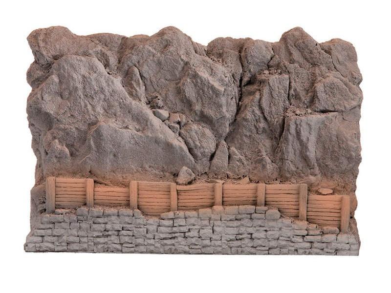 Steinschlag-Verbauung aus Struktur-Hartschaum Spur H0