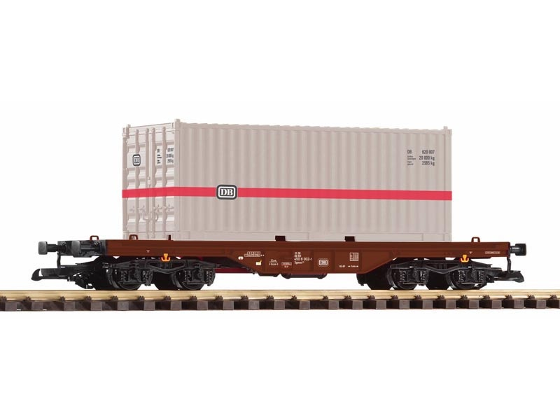 Containertragwagen mit 20 ft. Container der DB,  IV, Spur G