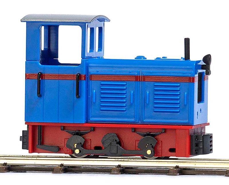 Diesel-Lokomotive LKM Ns 2f, Blau/Rot, Spur H0f Feldbahn