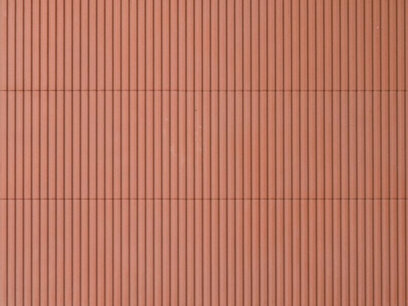 Dekorplatte Trapezblech rotbraun lose, Kunststoff, Spur H0