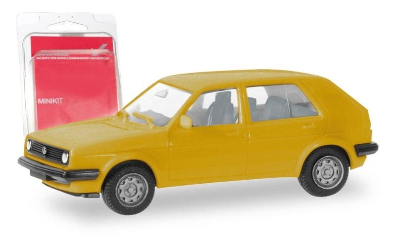 Minikit VW Golf II 4-türig, verkehrsgelb, 1:87 / Spur H0