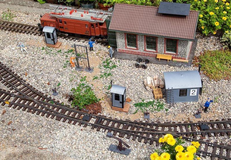 Bahnbetriebsausstattungs-Set Bausatz, Spur G