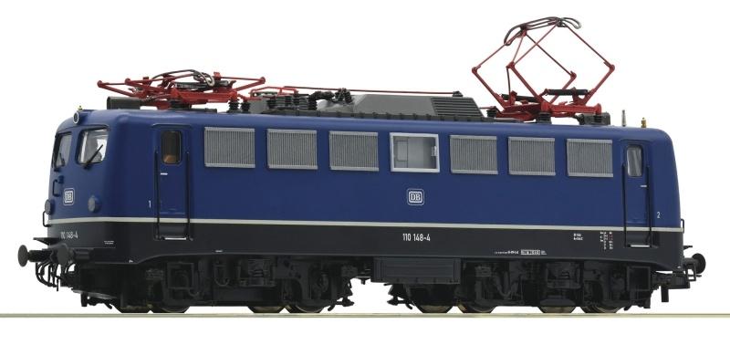 Elektrolokomotive 110 148-4 der DB blau, Sound, AC, Spur H0