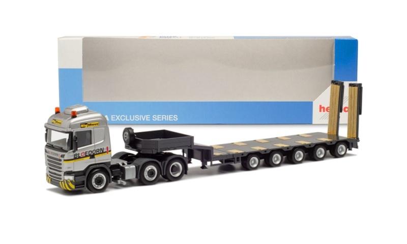 Scania R`13 HL 6x2 Semitieflade-Sattlezug Bloedorn,1:87/H0